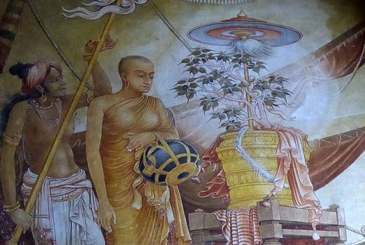 Ashoka-daughter-Sanghamitta-bringing-bodhi-tree-to-Sri-Lanka-from-India