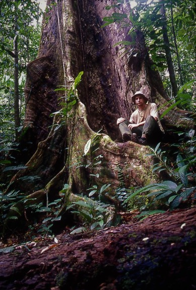 Mike Shanahan in the Lambir Hills National Park, Sarawak in 1998